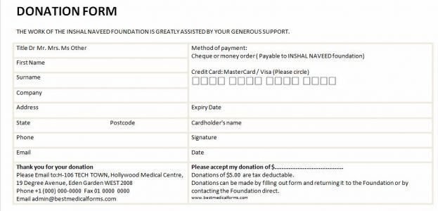 Donation Form Example : Selimtd