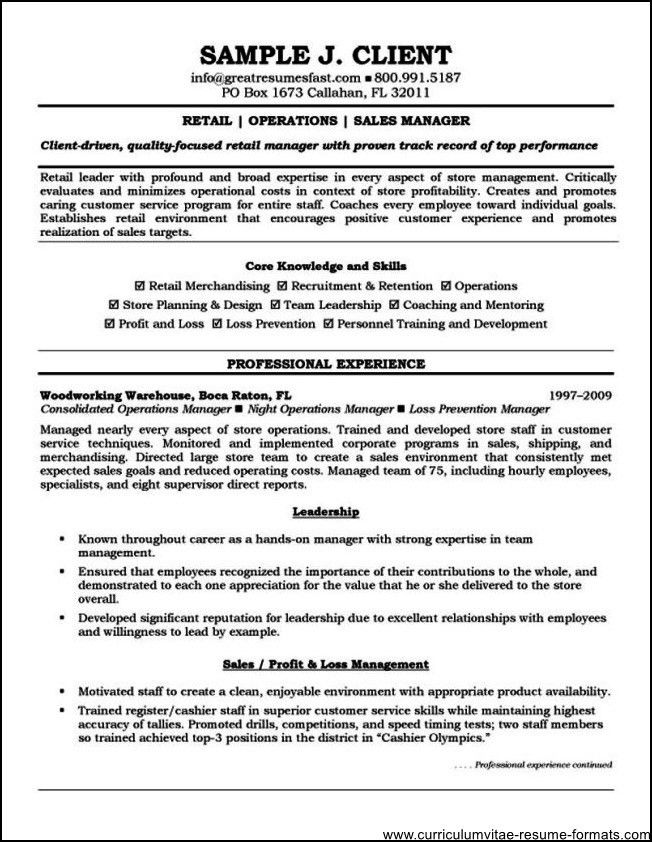 resume format templates 2016