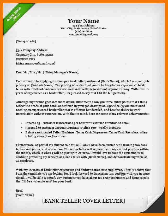 6+ bank teller cover letter | resume holder