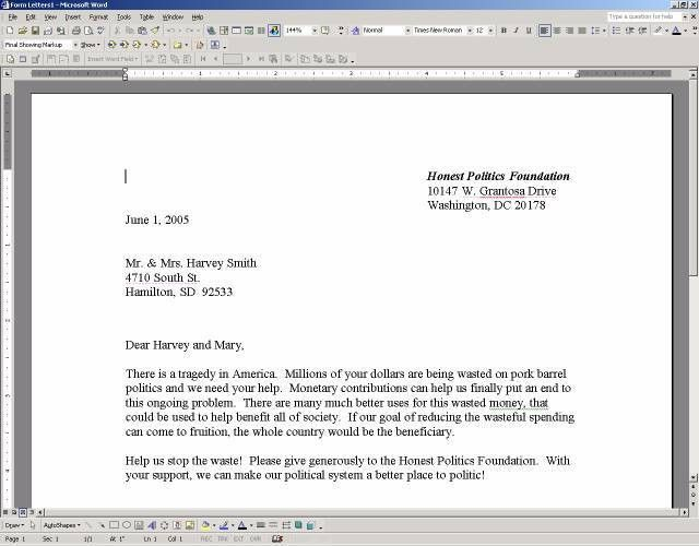 Formal Letter Template Microsoft Word | formal letter template