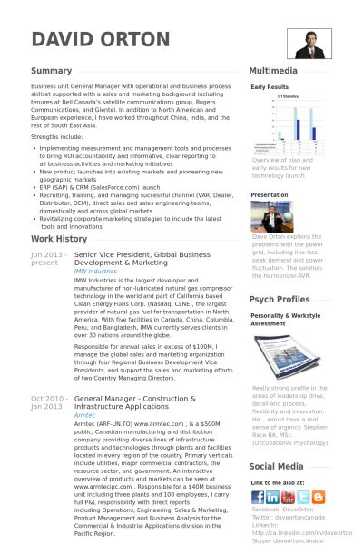President Resume samples - VisualCV resume samples database