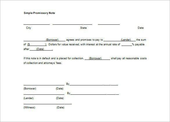 Free Promissory Note Template Word Document | Jobs.billybullock.us
