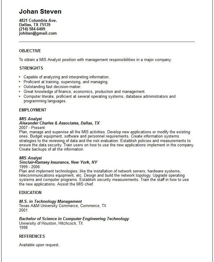 Mis resume [resume.characterworld.co]