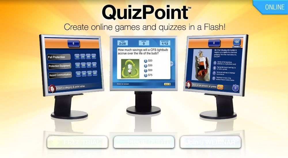 LearningWare's QuizPoint - Online Game Show templates that make ...