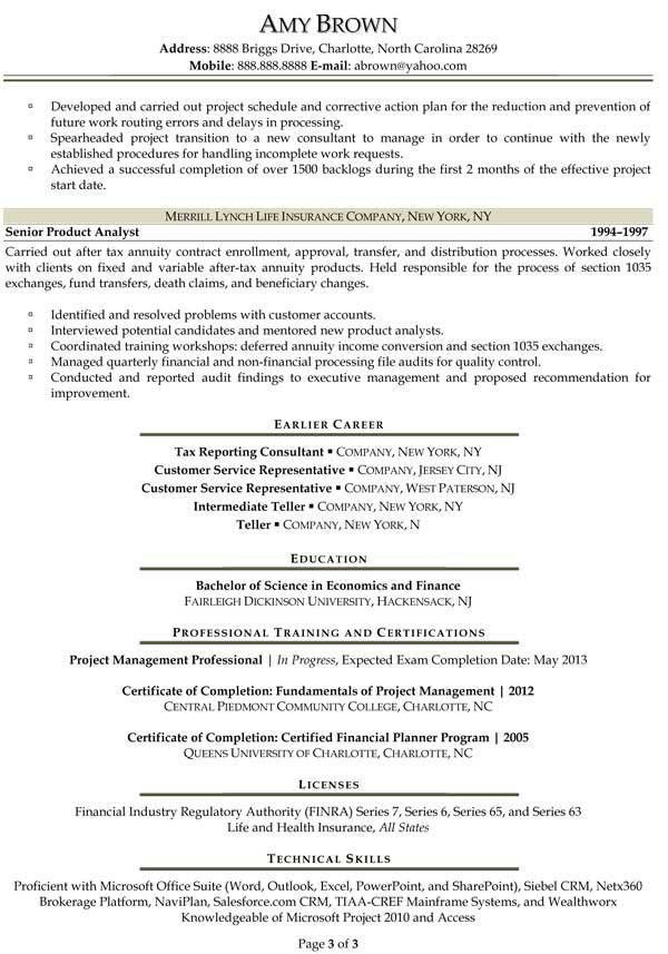 Finance Resume Examples - Resume Professional Writers