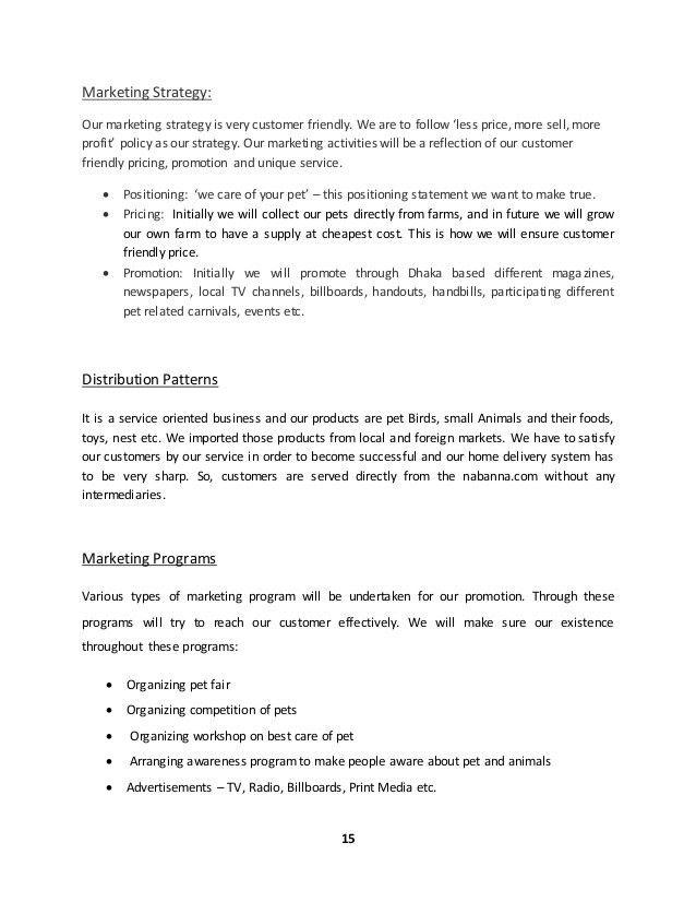 Sample business plan (online shop)