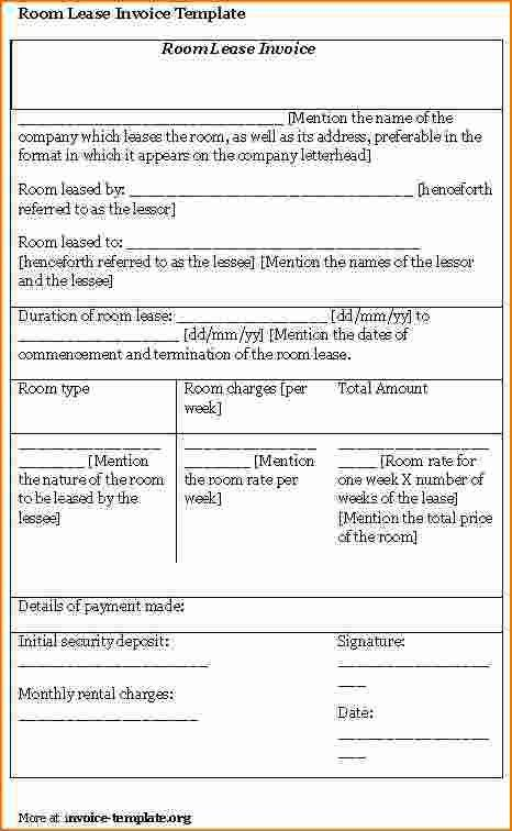 6+ Room Lease Agreement Template | Printable Receipt