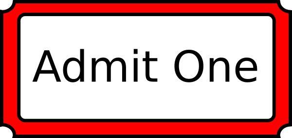 Red Admit One Clip Art at Clker.com - vector clip art online ...