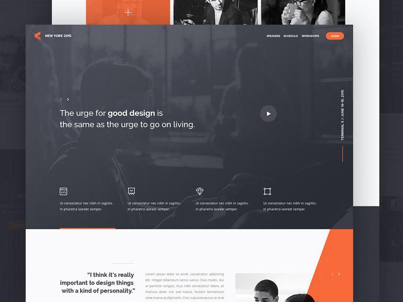Landing Page Inspiration — January 2017 – Collect UI Design, UI ...