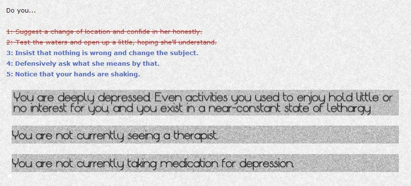 Depression Quest: An Interactive (non)Fiction About Living with ...