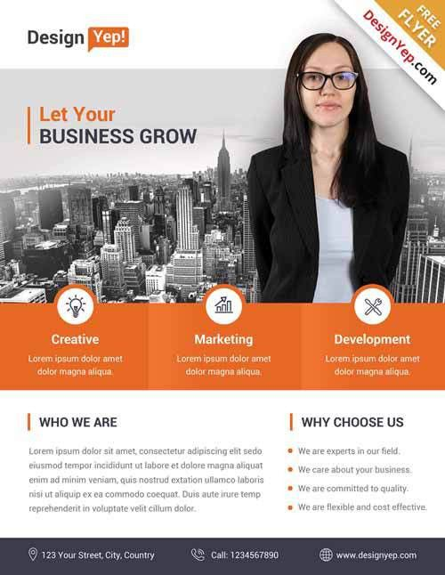 Download Corporate Business Free Flyer PSD Template