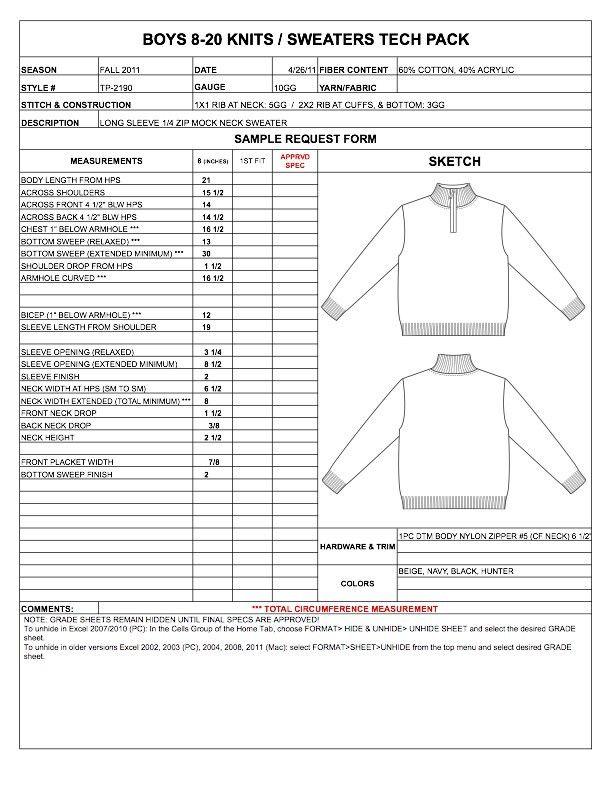 Designers Nexus - How to Spec a Garment eBook & Apparel Techpacks ...