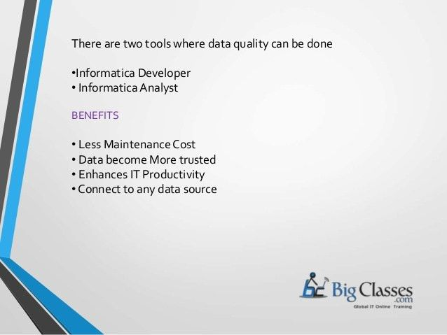 Informatica Products and Usage