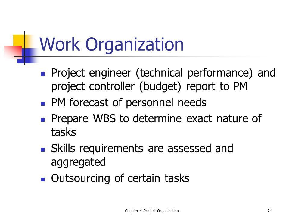 Ch 4 Project Organization - ppt video online download