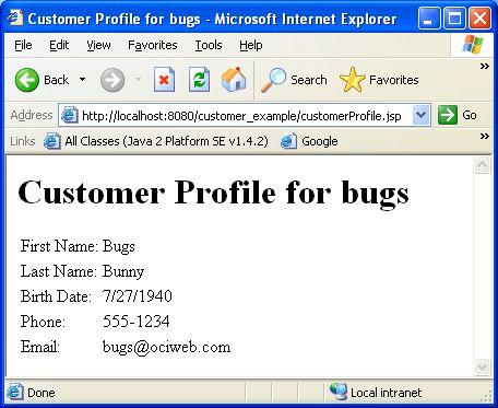 September 2003: JSP 2.0 :: OCI