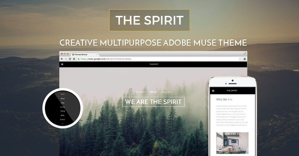 The Spirit | Beautiful, Natural and Creative Adobe Muse Template