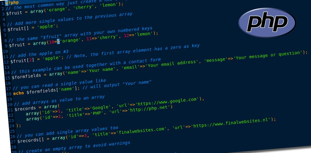 Add array values in PHP | Web Development Blog