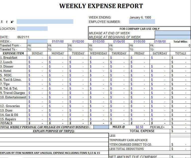 Monthly Business Expenses Templates : vlashed