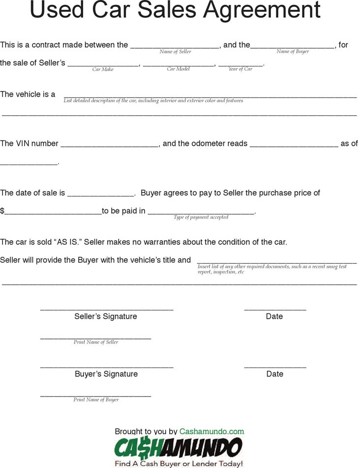 Car Sales Contract Sample Pdf | Sample Resumes For Lecturer ...