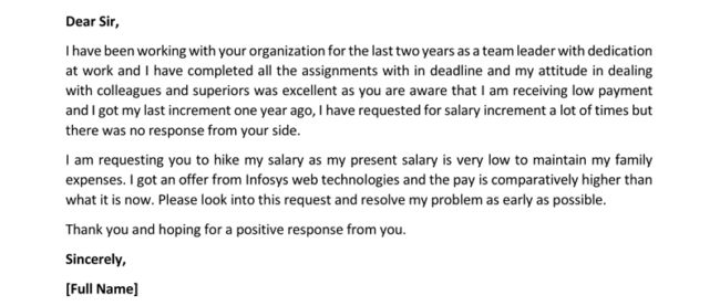 salary increase letter | Mytemplate.co