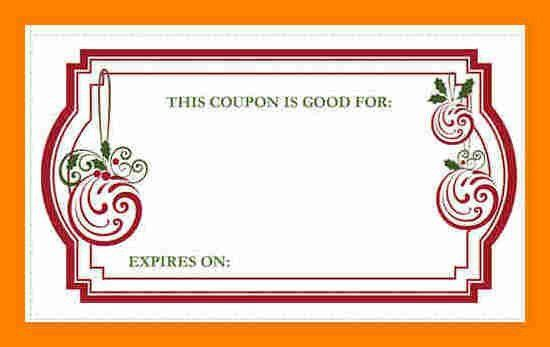 Christmas Coupons Template 2017 | Best Template Examples