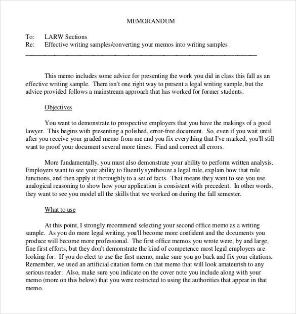 10+ Legal Memo Templates – Free Sample, Example, Format Download ...