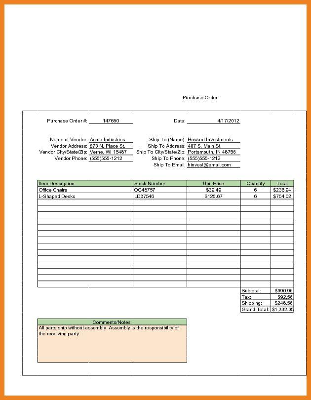 sample purchase order | teller resume sample