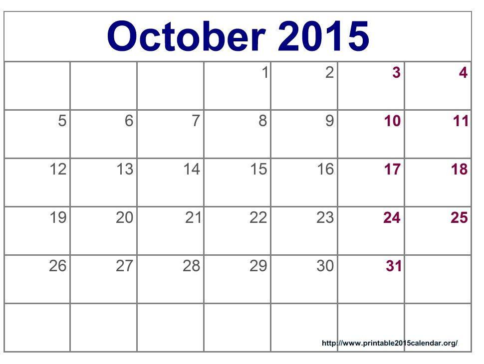 October 2015 Calendar Word Template | Calendar Picture Templates