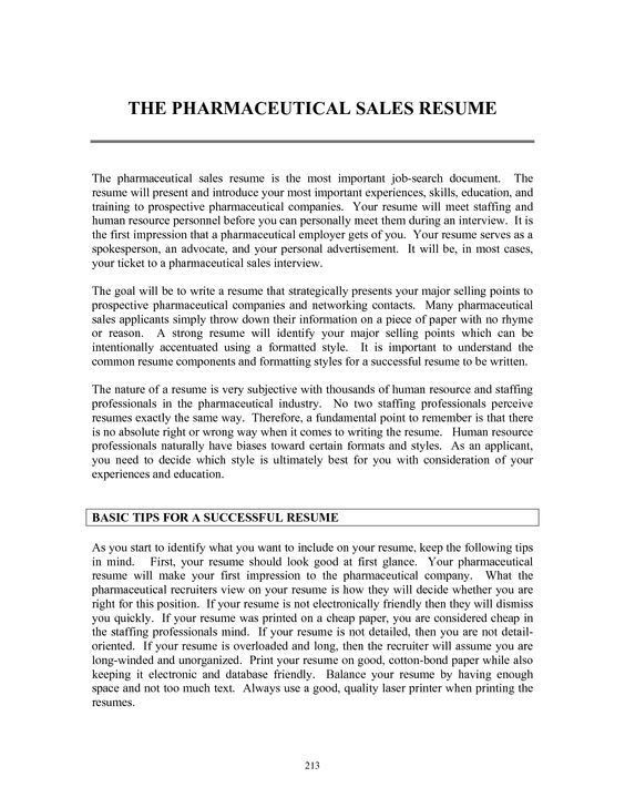 Resume Templates Pharmaceutical Sales Resume Templates ...