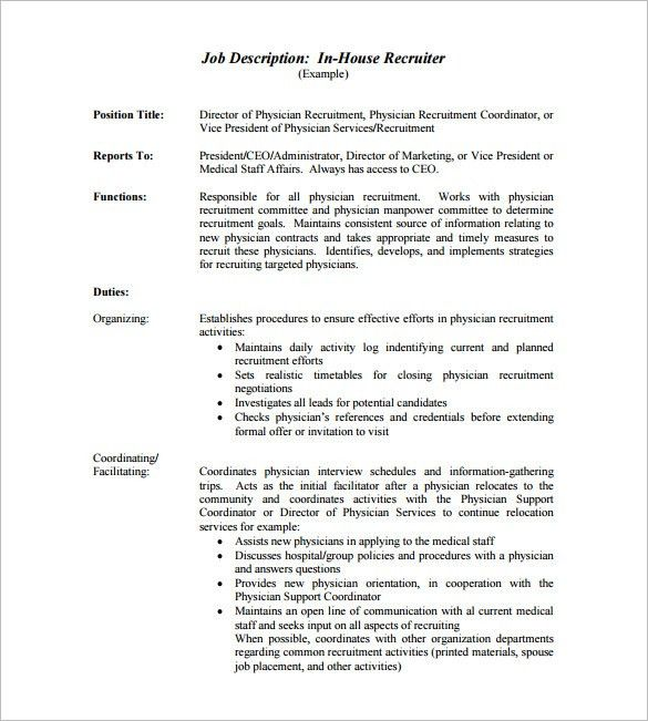 free job description template