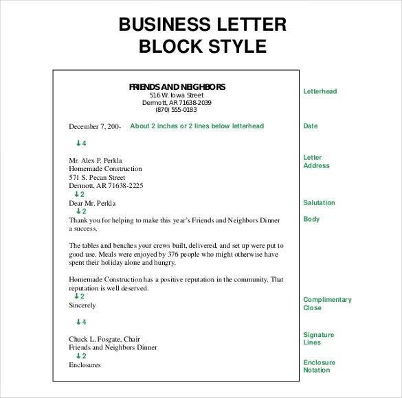 Block Business Letter Template - Mediafoxstudio.com