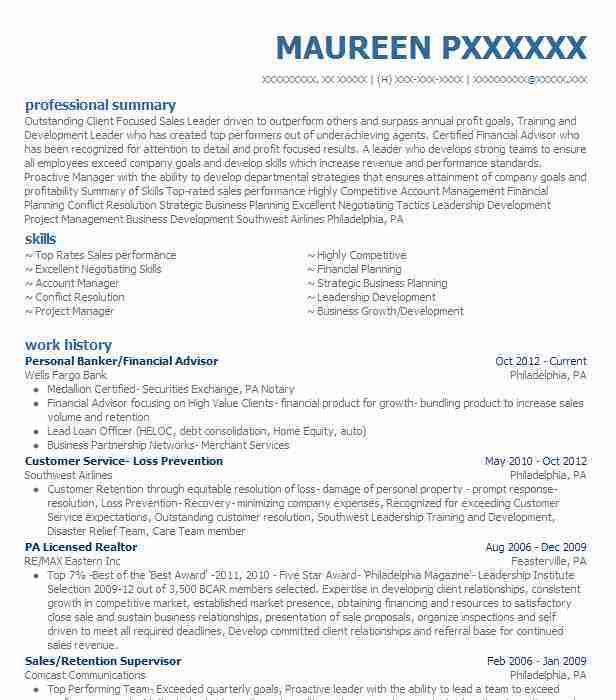 Best Personal Financial Advisor Resume Example | LiveCareer