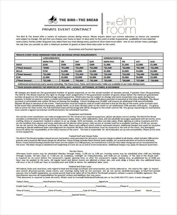 11+ Event Contract Templates - Free Sample, Example Format ...