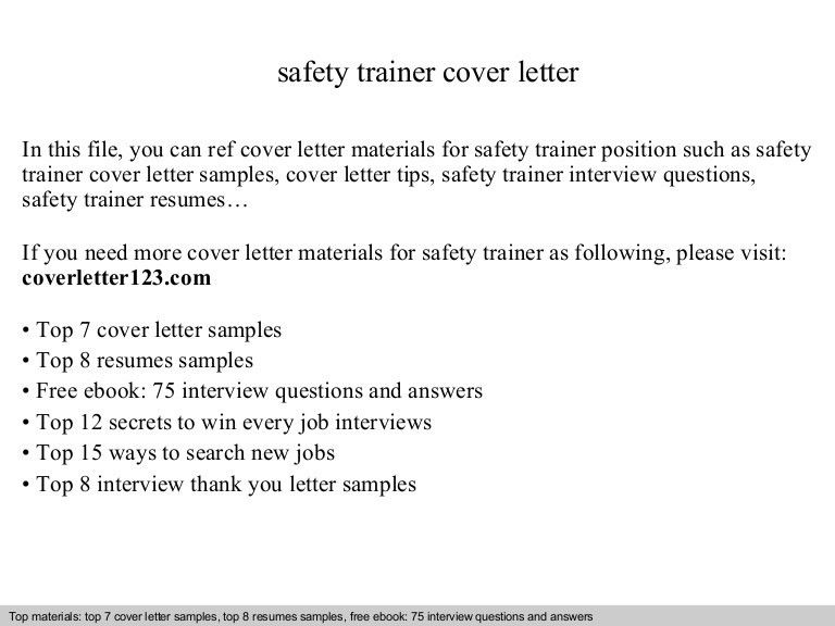 Software Trainer Cover Letter] Writing An Effective Cover Letter .