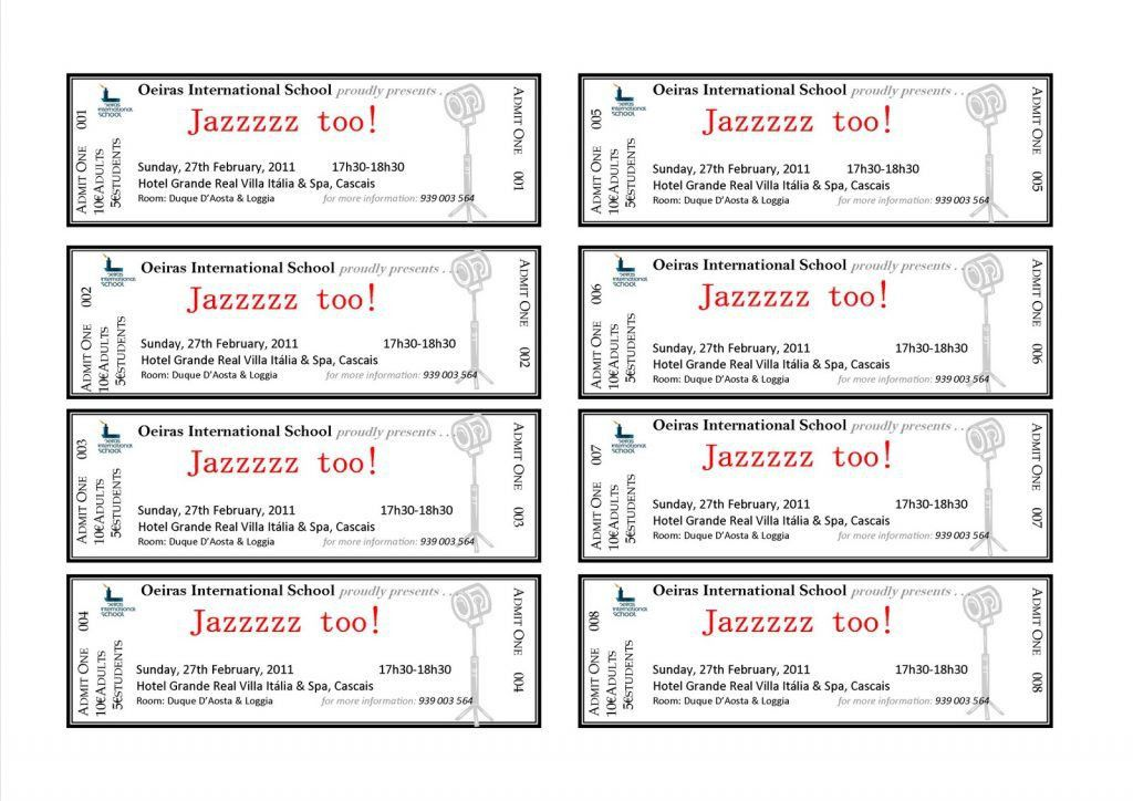 Banquet Ticket Template Sample Event Tickets Template Sample : Selimtd