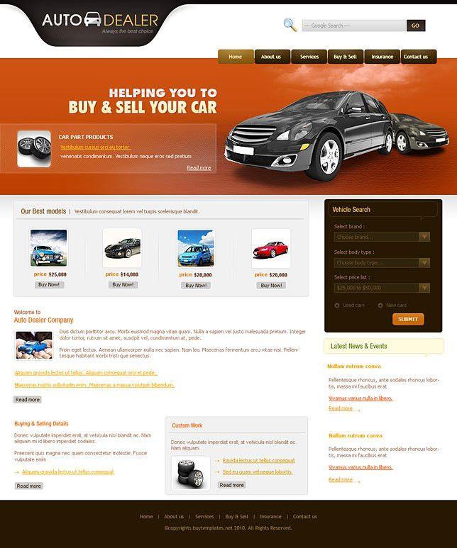 Premium html css templates for auto dealers