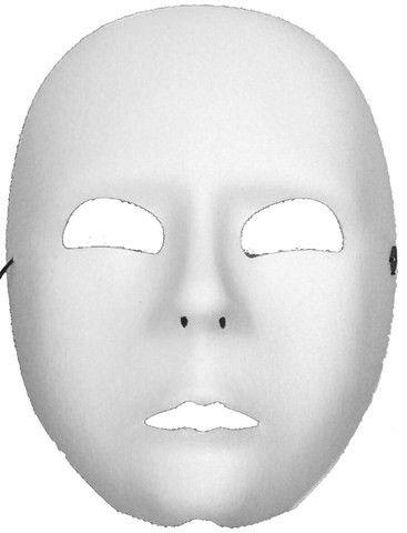 10 Best Images of Printable Blank Full Face Mask - Full Face Mask ...