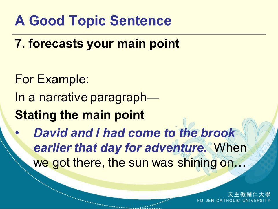 The Topic Sentence, Supporting & Concluding Sentences - ppt video ...