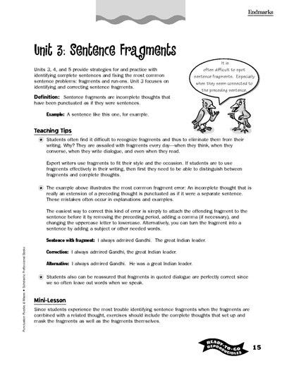 Writing Printables for All Ages | Sentence fragments, Sentences ...