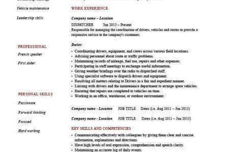 Dispatcher Resume Templates Dispatcher Resume Sample, 911 ...