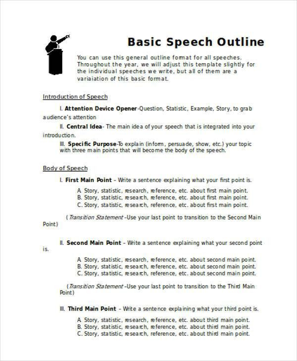 Speech Outline Example. Informative-Speech-Outline-Example ...