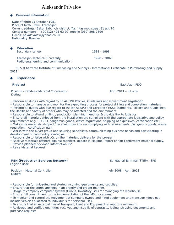 Education specialist resume sample