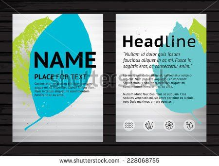 Grunge Two Side Flyer Template Vector Stock Vector 228068722 ...