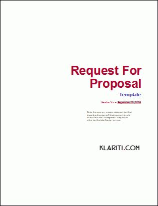 Request For Proposal Template | cyberuse