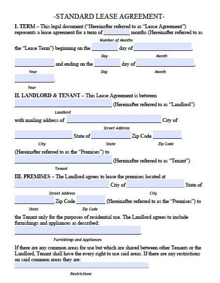 Free Rhode Island Standard Residential Lease Agreement – PDF Template