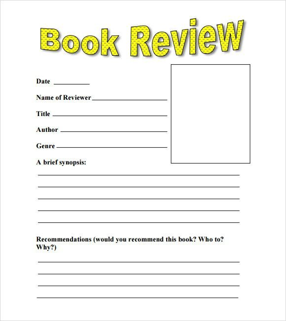 Sample Book Review Template - 10+ Free Documents in PDF, Word