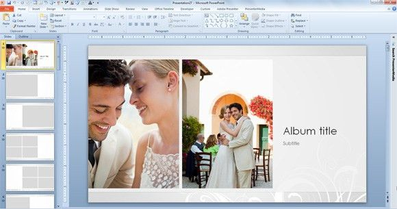 Wedding Photo Album Template for PowerPoint 2013
