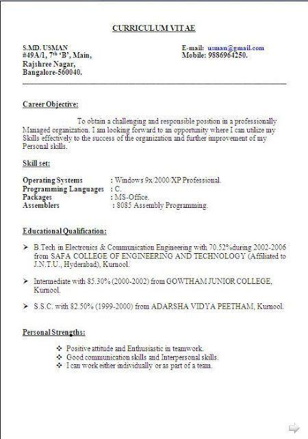 Good Resume Objective Statements | berathen.Com