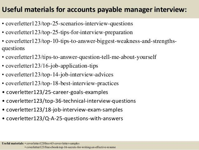 Top 5 accounts payable manager cover letter samples
