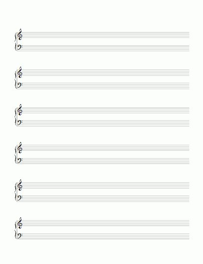 Grand Staff Paper with Clefs | StaffPaper.net